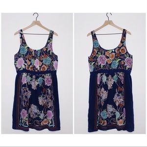 Anthro Moulinette Soeurs Silk Printed Dress | J238